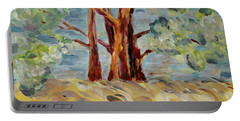 Portable Battery Charger featuring the painting Summer Afternoon by Maria Langgle