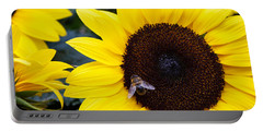 Summer Bee In Sunflower Portable Battery Charger