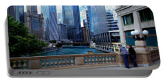 Summer Breeze On The Chicago River - Color Portable Battery Charger