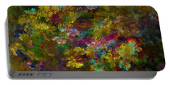 Portable Battery Charger featuring the digital art Summer Burst by Olga Hamilton