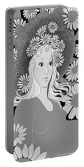 Portable Battery Charger featuring the digital art Summer by Carol Jacobs