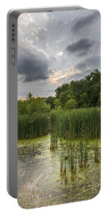Summer Evening Clouds Portable Battery Charger