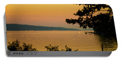 Summer Evening On Cayuga Lake Portable Battery Charger