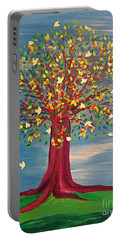 Summer Fantasy Tree Portable Battery Charger by First Star Art