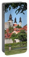 Summer Green Medieval Town Portable Battery Charger