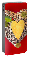 Portable Battery Charger featuring the photograph Summer Heart by Juergen Weiss