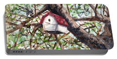 Portable Battery Charger featuring the painting Summer Home by Shana Rowe Jackson