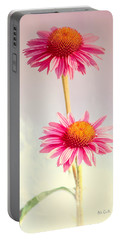 Summer Impressions Cone Flowers Portable Battery Charger