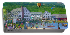 Summer In Waterville Valley Portable Battery Charger by Nancy Griswold