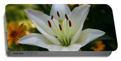 Portable Battery Charger featuring the photograph Summer Lily by Denyse Duhaime
