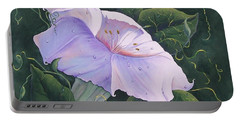 Portable Battery Charger featuring the painting Morning Glory  by Sharon Duguay