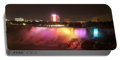 Summer Night In Niagara Falls Portable Battery Charger