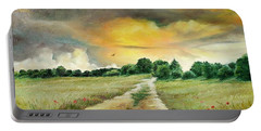 Portable Battery Charger featuring the painting Summer by Sorin Apostolescu