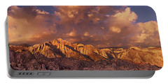 Portable Battery Charger featuring the photograph Summer Storm Clouds Over The Eastern Sierras California by Dave Welling