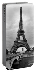 Summer Storm Over The Eiffel Tower Portable Battery Charger