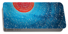 Summer Sun Original Painting Portable Battery Charger by Sol Luckman