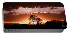 Summer Sunset Portable Battery Charger by Steven Reed