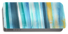 Summer Surf- Abstract Painting Portable Battery Charger by Linda Woods