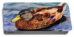 Portable Battery Charger featuring the photograph Summer Swim by Denyse Duhaime