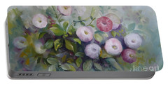 Portable Battery Charger featuring the painting Summer Symphony by Elena Oleniuc