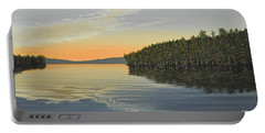 Portable Battery Charger featuring the painting Summers End by Kenneth M  Kirsch