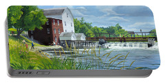 Summertime At The Old Mill Portable Battery Charger