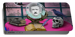 Summoning Edgar Allan Poe Portable Battery Charger by Glenn Holbrook