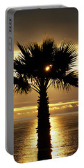 Sun And Palm And Sea Portable Battery Charger by Joe Schofield