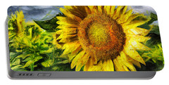 Sunflower Drawing  Portable Battery Charger