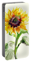 Sunflower Watercolor Portable Battery Charger