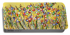 Sun-kissed Flower Garden Portable Battery Charger