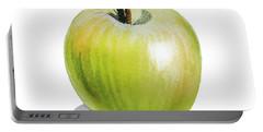 Sun Kissed Green Apple Portable Battery Charger by Irina Sztukowski