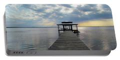 Sun Rays On The Lake Portable Battery Charger by Cynthia Guinn