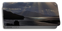 Sun Rays Over Eilean Donan Castle Portable Battery Charger