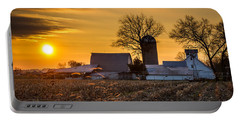 Sun Rise Over The Farm Portable Battery Charger
