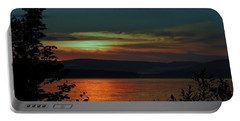 Sun Sets On Winnisquam Portable Battery Charger by Mim White