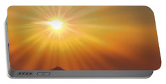 Sun Shinning Over The Mountain Portable Battery Charger