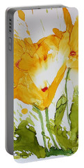 Sun Splashed Poppies Portable Battery Charger