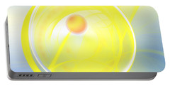 Portable Battery Charger featuring the digital art Sun Spot by Victoria Harrington