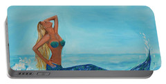 Sunbathing Mermaid Portable Battery Charger