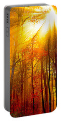 Sunburst In The Forest Portable Battery Charger