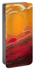 Portable Battery Charger featuring the painting Sunburst by Jason Girard