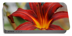 Portable Battery Charger featuring the photograph Sunburst Lily by Neal Eslinger