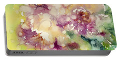 Sundappled Rose Portable Battery Charger by Judith Levins