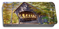 Sunday River Covered Bridge Portable Battery Charger by Jeff Folger