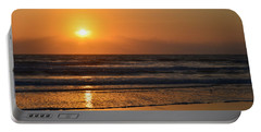 Portable Battery Charger featuring the photograph Sundays Golden Sunrise by DigiArt Diaries by Vicky B Fuller