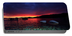 Sundown In Lake Tahoe Portable Battery Charger