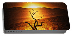 Sundown In The Mountains Portable Battery Charger by Lydia Holly