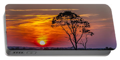 Sundown With Tree Portable Battery Charger
