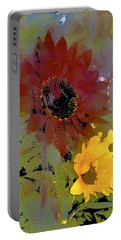 Sunflower 33 Portable Battery Charger by Pamela Cooper